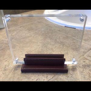 Authentic COACH leather decorative lucite frame